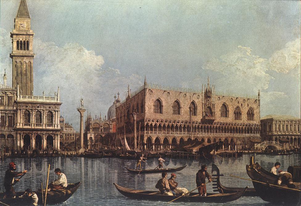 Canaletto (Giovanni Antonio Canal) - Veduta del bacino di San Marco dalla punta della Dogana
