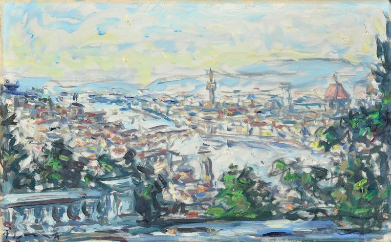 Enzo Pregno - Veduta di Firenze dal Piazzale Michelangelo