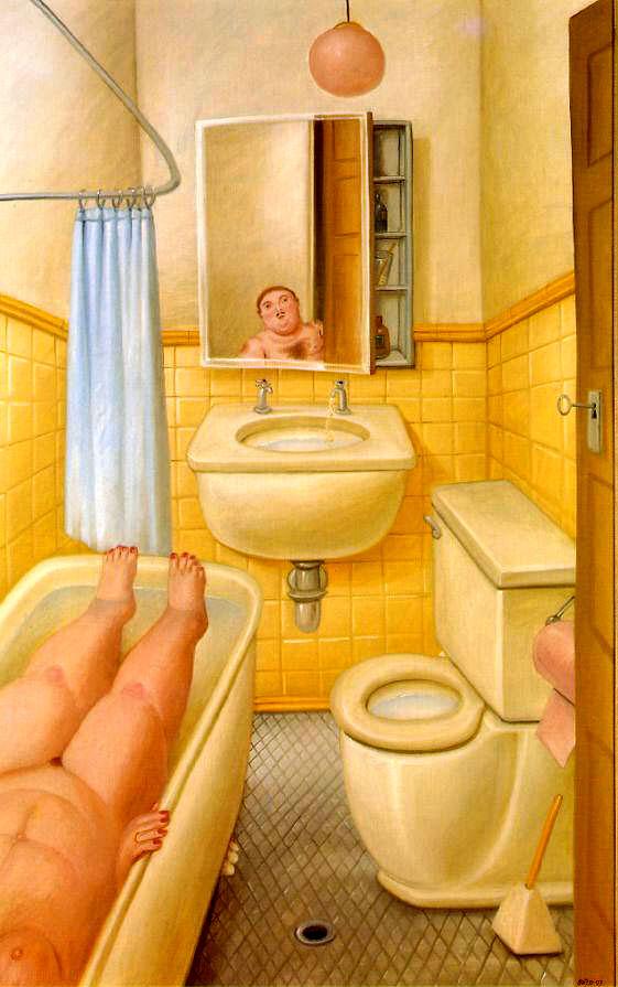 Stanza da bagno_Fernando Botero